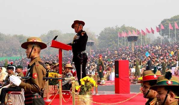 Army Chief Bipin Rawat Addressing 70th Army Day