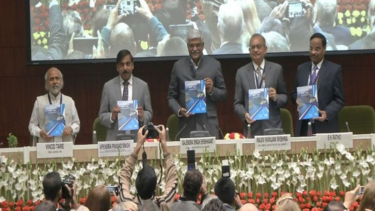 Shri Shekhawat releases reports on River Restoration and Conservation, International Cooperation on Water during the Summit, Namami Gange, Prime Minister Shri Narendra Modi, Ministry of Jal Shakti, Shri Gajendra Singh Shekhawat, Shri Ratan Lal Katariya, Vigyan Bhawan, 4th India Water Impact Summit 2019 organized by NMCG in delhi