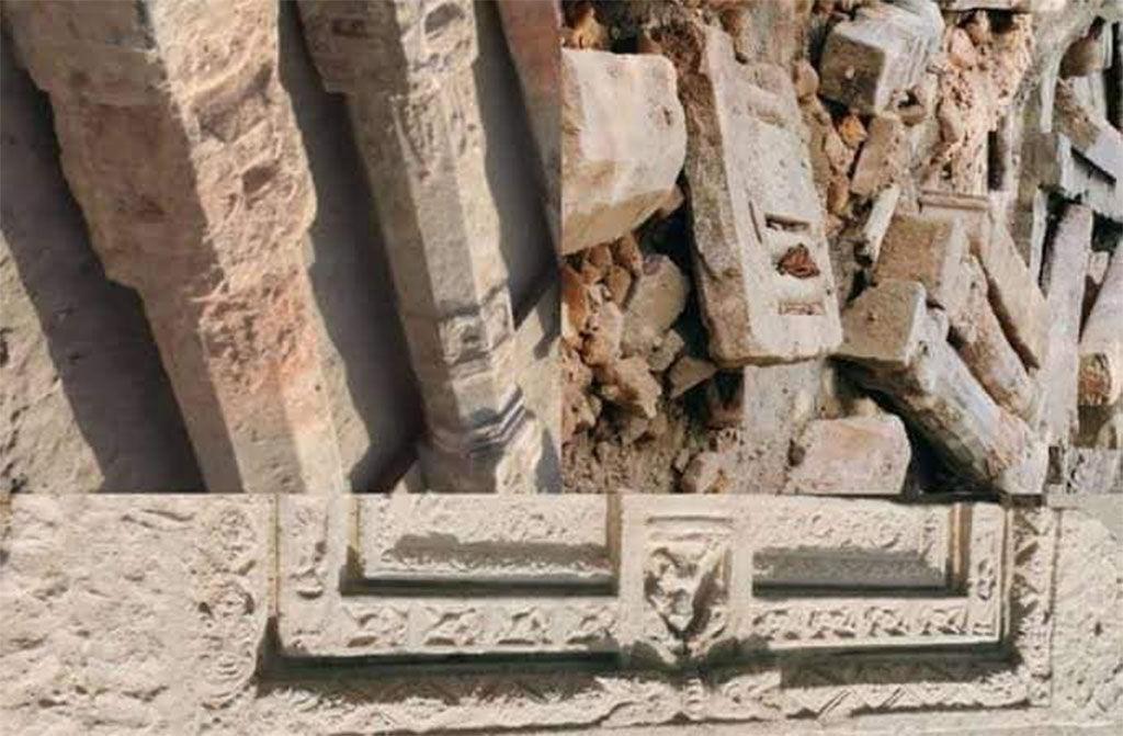 श्री राम जन्मभूमि क्षेत्र अयोध्या, बाबरी मस्जिद, ayodhya-ram-janmabhoomi-mandir-ground-levelling-pillars-shivling-recovered