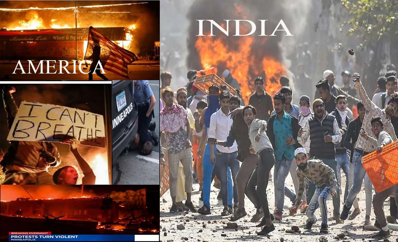 ANTIFA, Simi, PFI, Terrorist robbers of democracy: flames of American riots reaching India